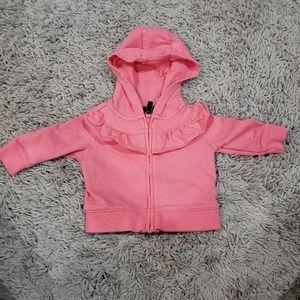Carter's Newborn Pink Ruffle Hoodie
